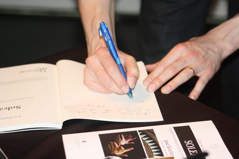 Signature du livre-CD «Soleá»